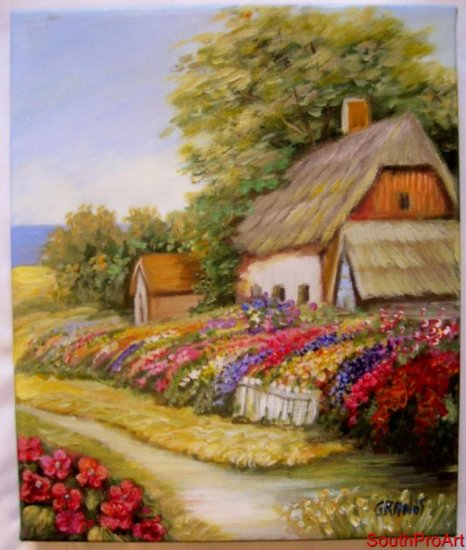 NURIT GRANOT~ORIG PAINTING on Stretched CANVAS Kincade