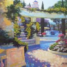 BELLAGIO GARDEN HOWARD BEHRENS EMBELLISH CANVAS Italy