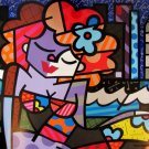 ROMERO BRITTO DOWNTOWN GIRL HS&# New York 10/150 Miami