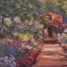 MARK KING PROVENCE COTTAGE EMBELLISHED CANVAS France