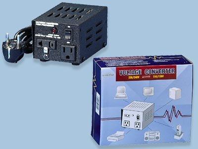 TC100 100 Watts Step Up-Step Down Voltage Converter two outlet (110v 220v)