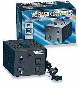 TC-1500 1500W Watts Step Up-Step Down Voltage Transformer with three socket outputs