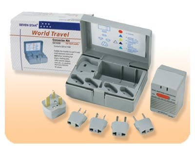 International Travel Voltage Converter Adapter Kit SS-1650 with Storage Case