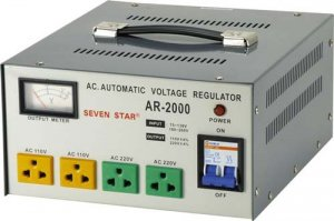 AR-2000 2000W Watts Voltage Converter With Stabilized Output