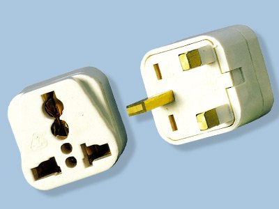UK Style 220V Plug Adapter- Universal Output, Also Works in UAE/Iraq/Ireland/Hong Kong