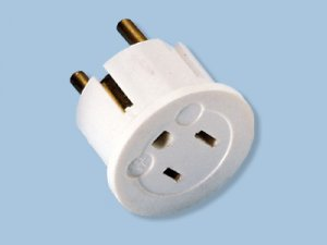 220 Volt European Schuko Plug With Grounding- Converts US Plug To Europe Plug