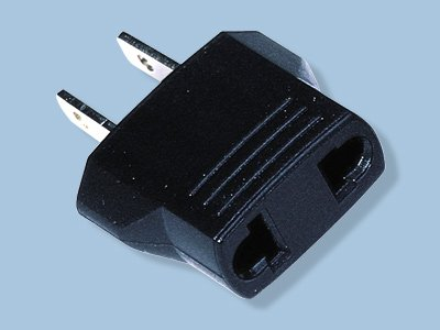 European to North American 2 Flat Blade Plug Adapter- Converts European to USA
