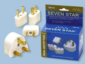 International Plug Adapter Kit - Includes Plugs for Europe/USA/Australia/UK