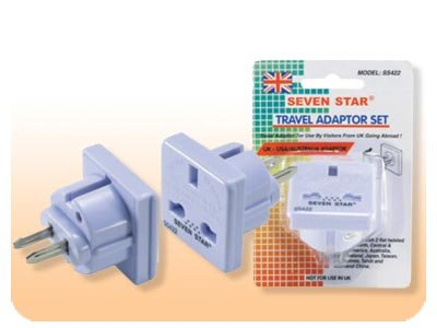 UK To US Adapter Plug SS-422 - Converts English Plug to American Plug