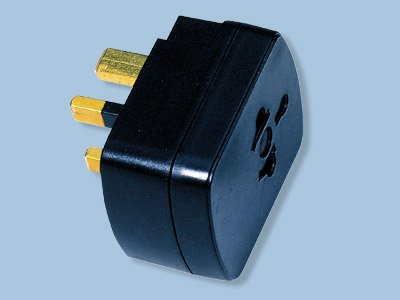 UK/Ireland Style Adapter Plug - SS-405G- US/Europe to UK Also Works in UAE/Iraq