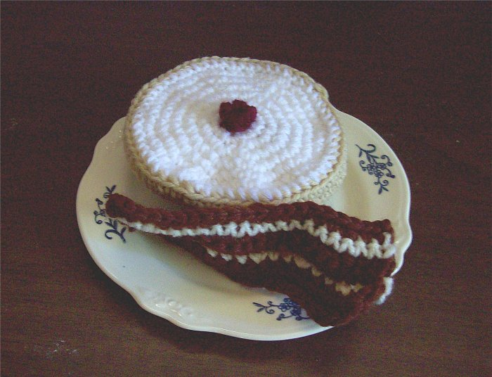 Hand Crocheted Bagel & Bacon Slice