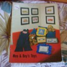 Cross Stitch Booklet For Men & Boy's Toys Vintage 1979