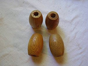 Macrame Beads Lot of 4 Very Large Natural Wood