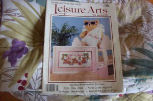 Leisure Arts Magazine Back Issue 1988 32 Projects Cross Stitch, Knit & Crochet, Crafts