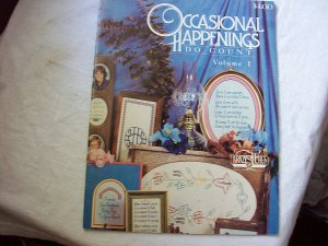Counted Cross Stitch Back Issue Dated 1981 Occasional Happenings Do Count