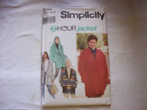 Simplicity Sewing Pattern 2 Hour Jacket #9744