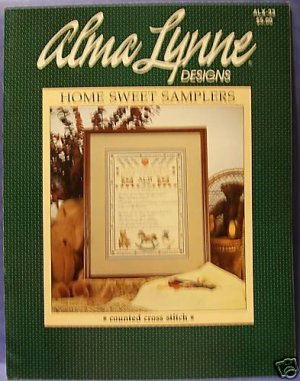 Vintage Alma Lynne Designs Home Sweet Samplers to Cross Stitch