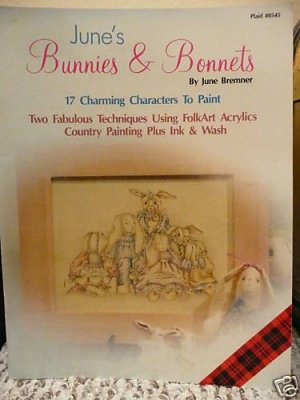 June's Bunnies & Bonnets Painting Craft Pattern Book