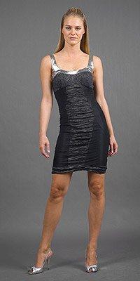 Nicole Miller Black/Silver Cocktail Dress