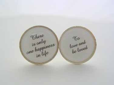 Wedding Anniversary Gift To Groom From Bride There Is Only One Happiness In Life Cuff Links