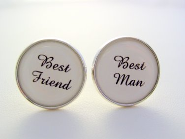 Wedding Gift Best Man Best Friend Cuff Links Cufflinks