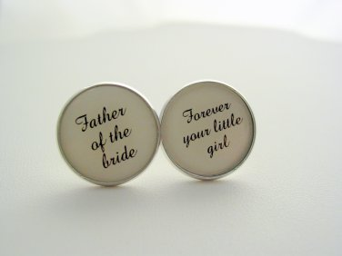 Wedding Gift Father Of The Bride Forever Your Little Girl Cuff Links Cufflinks