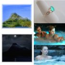 Mako Island Mako Mermaids H2O Adventure Moon Pool Sterling Silver Ring Size 4.5