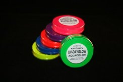 Kryolan UV Dayglow Cakes - Face Body Paint - Makeup - Pink