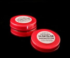 Kryolan UV Dayglo Cakes - Face Body Paint - Makeup - Red