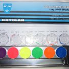 Kryolan Aquacolor Dayglow UV Face Painting Palette