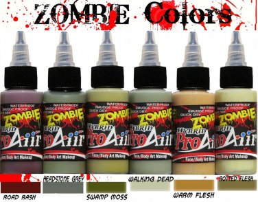 ProAiir Hybrid Airbrush Face Body Paint  Makeup 1 oz Set Zombie 1