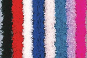 100 gram gm HOT PINK Chandelle Feather Boa Halloween Costume Mardi gras