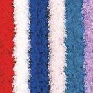 100 gram gm WHITE Chandelle Feather Boa Halloween Costume Mardi gras