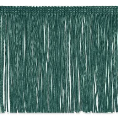 """6"""" Teal Green Chainette Fabric Fringe Trim By the Yard"""