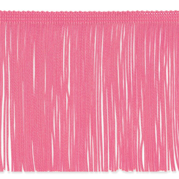 "6"" Pink Chainette Fabric Fringe Trim By the Yard"