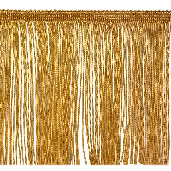 """6"""" GOLD Chainette Fabric Fringe Trim By the Yard"""
