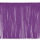"6"" PURPLE Chainette Fabric Fringe Trim By the Yard"