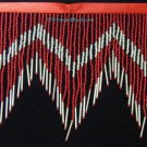 "6.5"" Chevron Red & Silver Glass Seed & Bugle Bead Beaded Fringe Lamps, Costumes, Crafts"