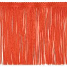 "6"" ORANGE Chainette Fabric Fringe Trim By the Yard"