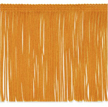 """6"""" YELLOW GOLD Chainette Fabric Fringe Trim By the Yard"""