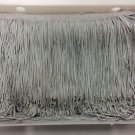 "20 Yd Bolt-6"" Light Gray Grey Chainette Fabric Fringe Trim By the Yard"