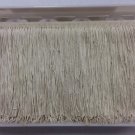 "20 Yd Bolt-6"" Ivory Off White Chainette Fabric Fringe Trim By the Yard"