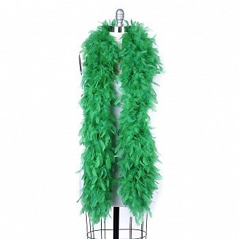 120 g gram gm KELLY GREEN Chandelle Feather Boa Halloween Costume Mardi gras