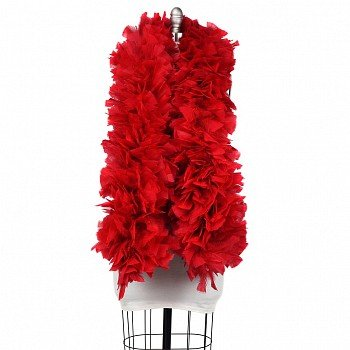 240gm gram RED Thick Wire Wrapped Turkey Feather Stage Theater Quality Costume