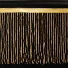"By the Yard-6.5"" Gold Glass Seed Bead Beaded Fringe Lamps, Costumes, Crafts"