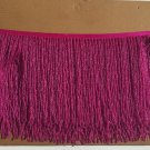 "6.5"" Hot Pink Glass Seed Bead Beaded Fringe Lamps, Costumes, Crafts"