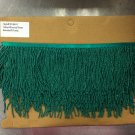 "4.5"" GREEN Glass Seed Bead Beaded Fringe Lamps, Costumes, Crafts"