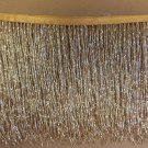 "By the Yard-6.5"" GOLD Glass BUGLE Bead Beaded Fringe Lamps, Costumes, Crafts"