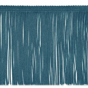 """By the Yard 6"""" TEAL Chainette Fabric Fringe Lampshade Lamp Costume Trim"""
