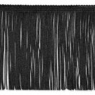 "6"" Black Chainette Fabric Fringe Lampshade Lamp Costume Trim by the Yard"